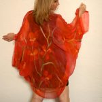 red felted summer wrap