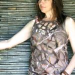 natural fibre felted dress