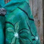 teal felted coat