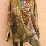 colourful winter felt wrap jacket
